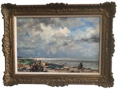 Stuart Scott Somerville, Impressionist beach scene, Dunwich