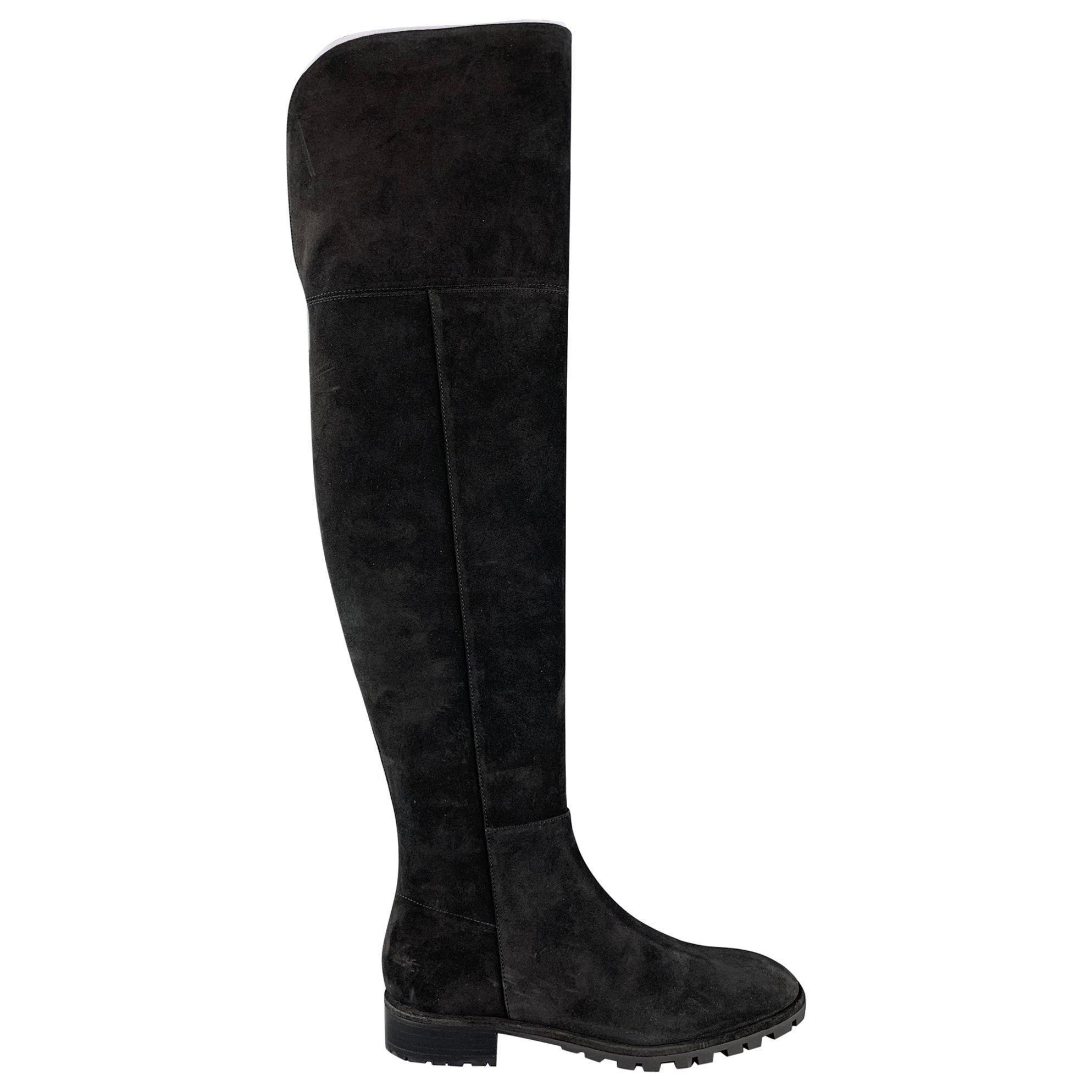 STUART WEITZMAN Amber Size 10 Black Suede Boots