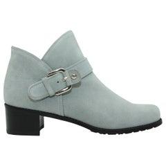 Stuart Weitzman Grey Suede Ankle Boots