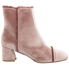 Stuart Weitzman Rose Velvet Ankle Boots