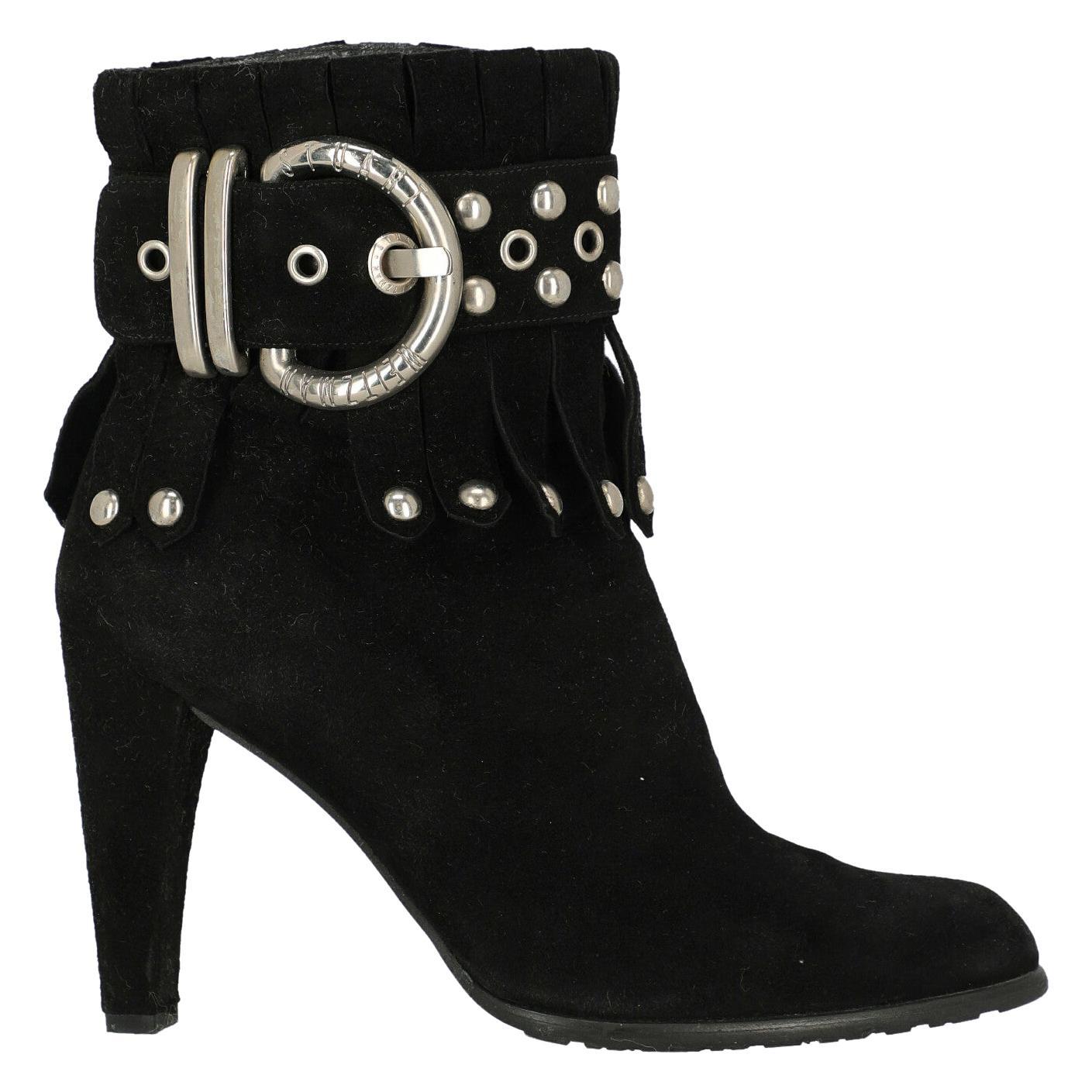 Stuart Weitzman Woman Ankle boots Black Leather IT 37.5