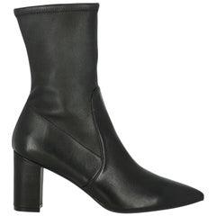 Stuart Weitzman Woman Ankle boots Black Leather IT 40