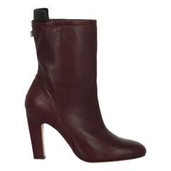 Stuart Weitzman Woman Ankle boots Burgundy Leather IT 40