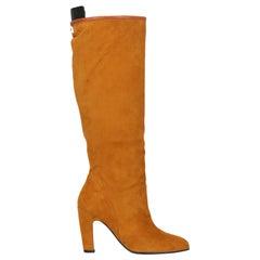 Stuart Weitzman Woman Boots Camel Color Leather IT 35
