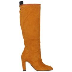 Stuart Weitzman Woman Boots Camel Color Leather IT 37