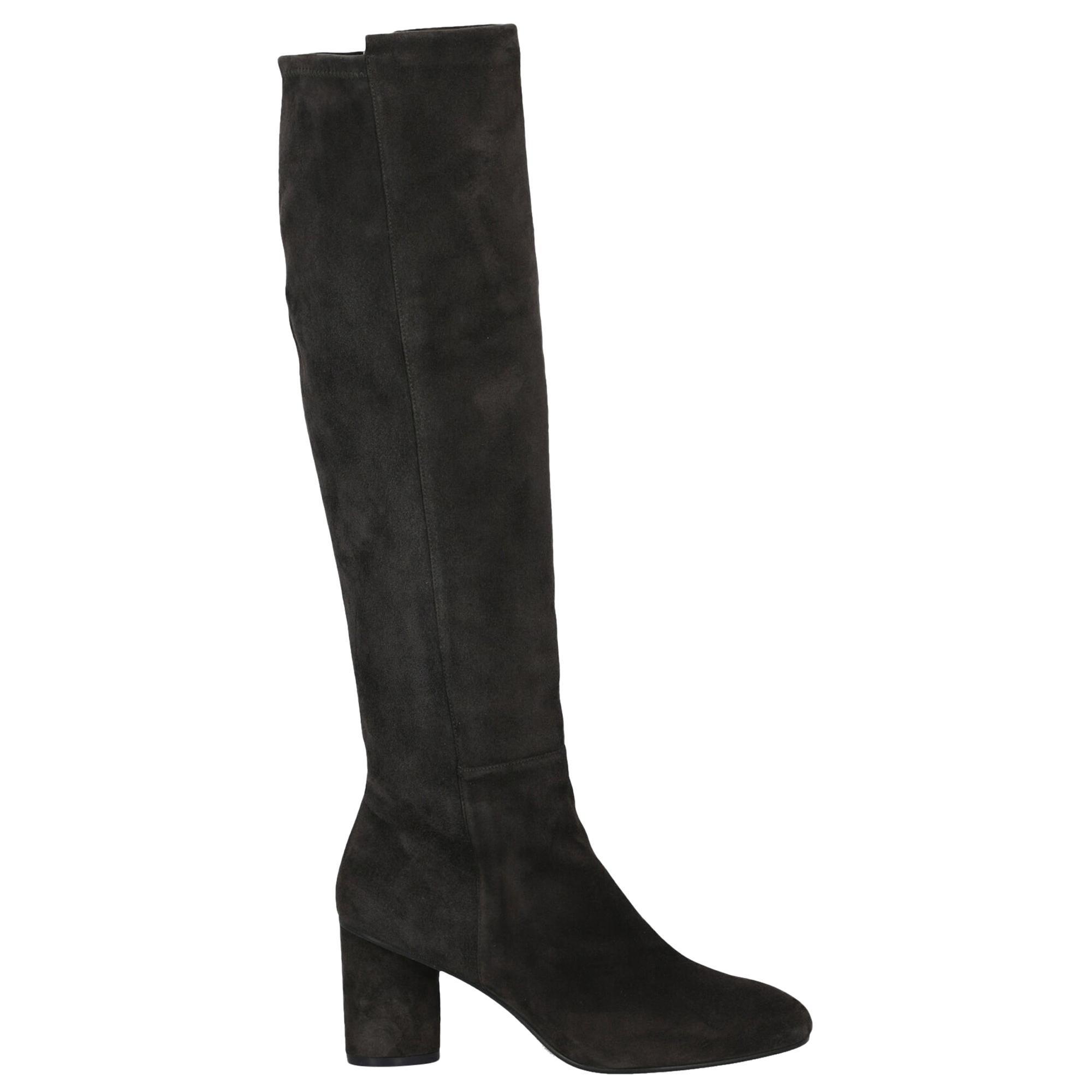 Stuart Weitzman Woman Boots Grey Leather IT 36
