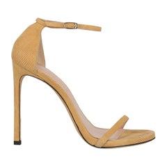 Stuart Weitzman Woman Sandals Beige Leather IT 40