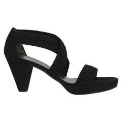 Stuart Weitzman Woman Sandals Black Fabric IT 41