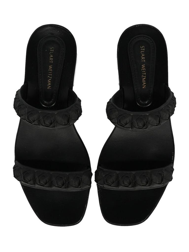 Stuart Weitzman Woman Slippers Black EU 36 For Sale 1