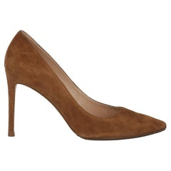 Stuart Weitzman Women  Pumps Camel Color Leather IT 36.5