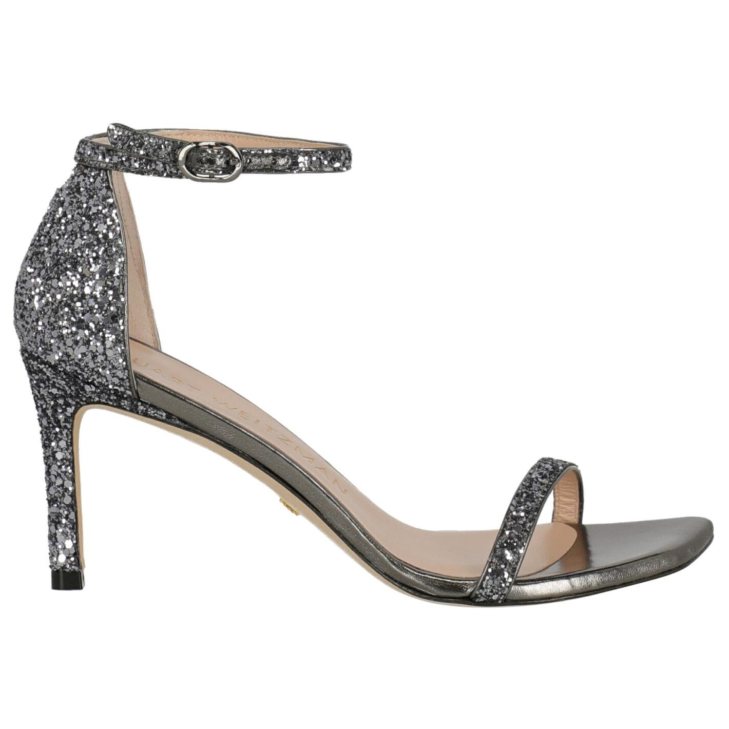 Stuart Weitzman  Women   Sandals  Anthracite, Purple Leather EU 38.5