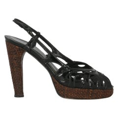 Stuart Weitzman Women  Sandals Black Leather IT 38.5
