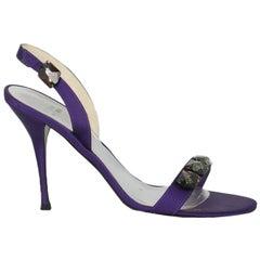 Stuart Weitzman Women  Sandals Purple Fabric IT 39