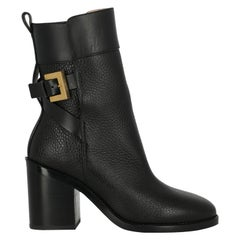 Stuart Weitzman Women's Ankle Boots Black Leather Size IT 37