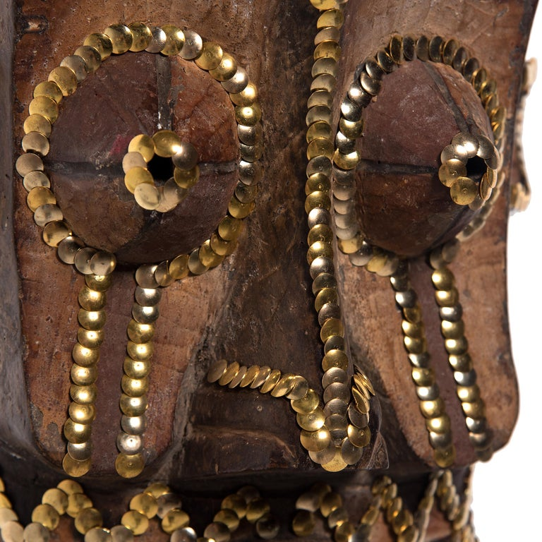 Studded African Mask by Brian Stanziale In Good Condition For Sale In Chicago, IL