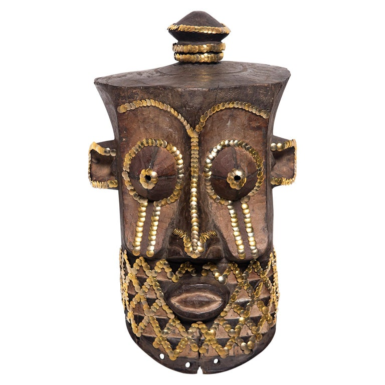 Studded African Mask by Brian Stanziale For Sale