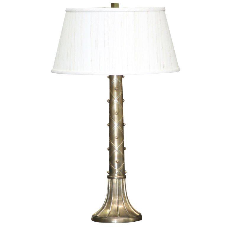 Studded Brass Chapman Lamp