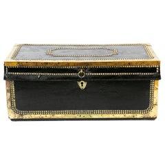 Studded Leather Camphor Wood Box