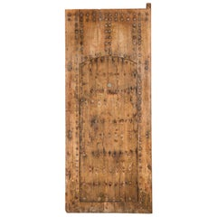 Studded Moroccan Plank Door with Judas Gate, 20th Century