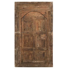 Studded Moroccan Wooden Judas Door, 20th Century