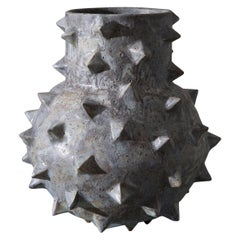 Studded Sculptural Stoneware Vessel by LGS Studio