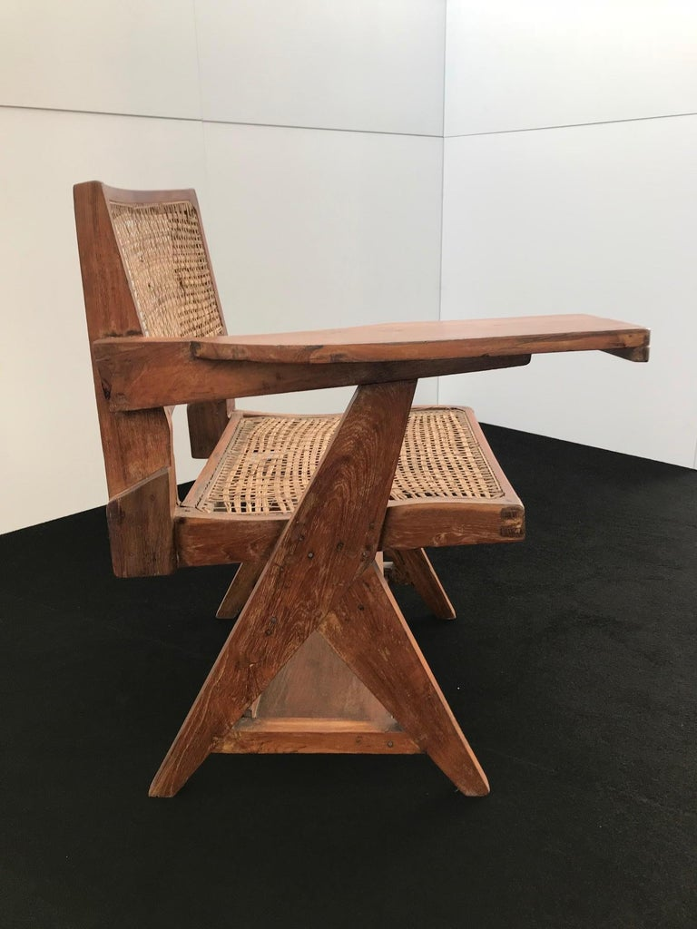 Student chair in solid teak, feets in