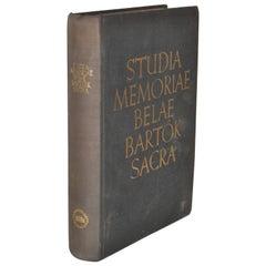 Studia Memoriae Belae Bartok Sacra Signed by Paul Robeson 'personal copy'