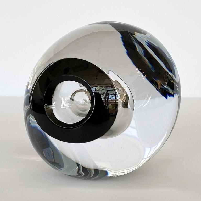 Studio Ahus Art Glass Sculpture by Lennart Nissmark 3