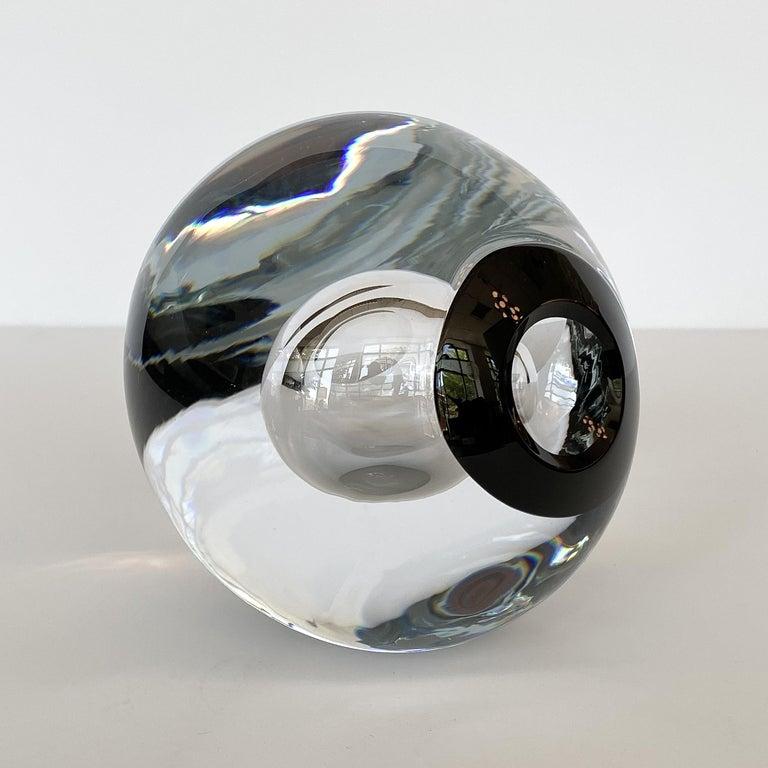 Modern Studio Ahus Art Glass Sculpture by Lennart Nissmark