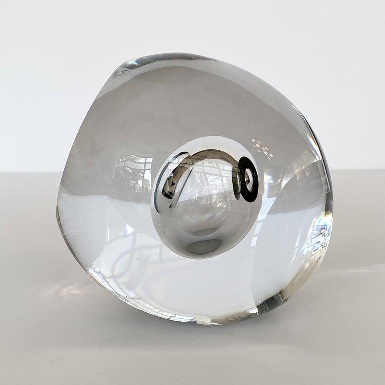 Swedish Studio Ahus Art Glass Sculpture by Lennart Nissmark