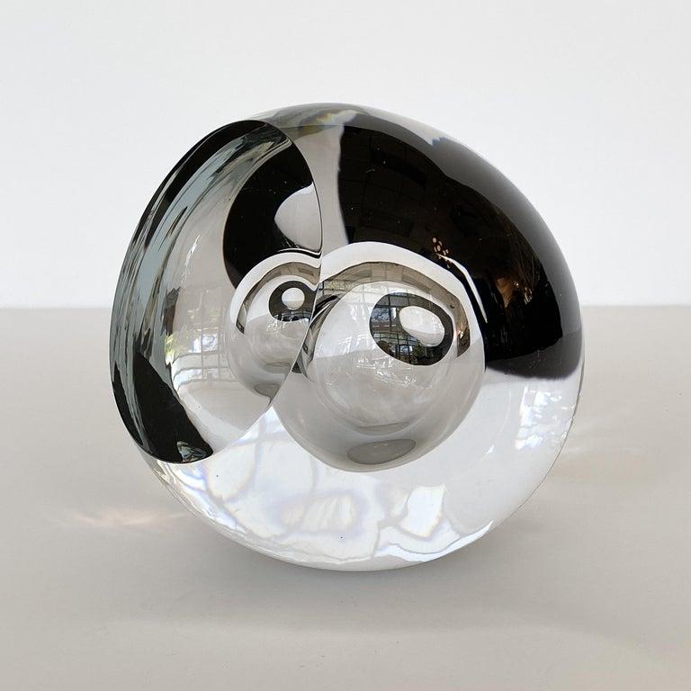 Hand-Crafted Studio Ahus Art Glass Sculpture by Lennart Nissmark