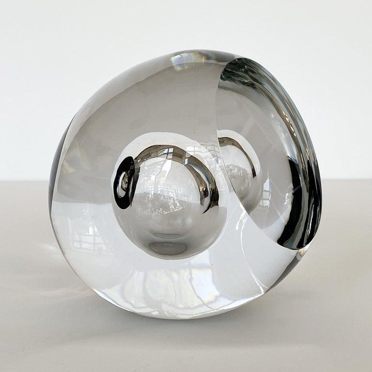 Blown Glass Studio Ahus Art Glass Sculpture by Lennart Nissmark