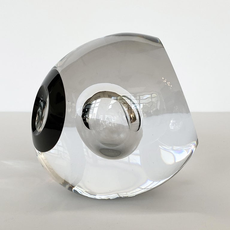 Studio Ahus Art Glass Sculpture by Lennart Nissmark 1
