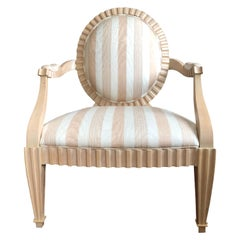 Studio Art Handmade Grand Fluted Occasional Lounge Armchair