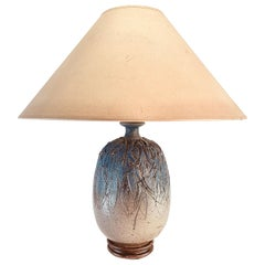 Studio Art Pottery Table Lamp by Massachusetts Potter John Moakley, circa 1960s
