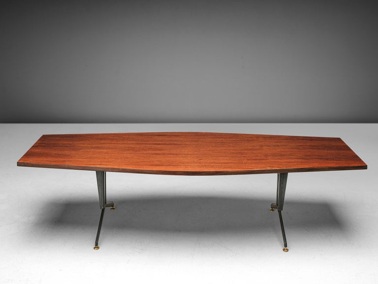 Mid-Century Modern Studio BBPR 'Arco' Conference Table in Rosewood