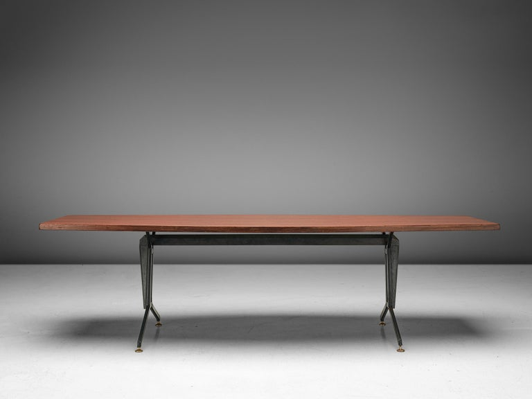 Italian Studio BBPR 'Arco' Conference Table in Rosewood
