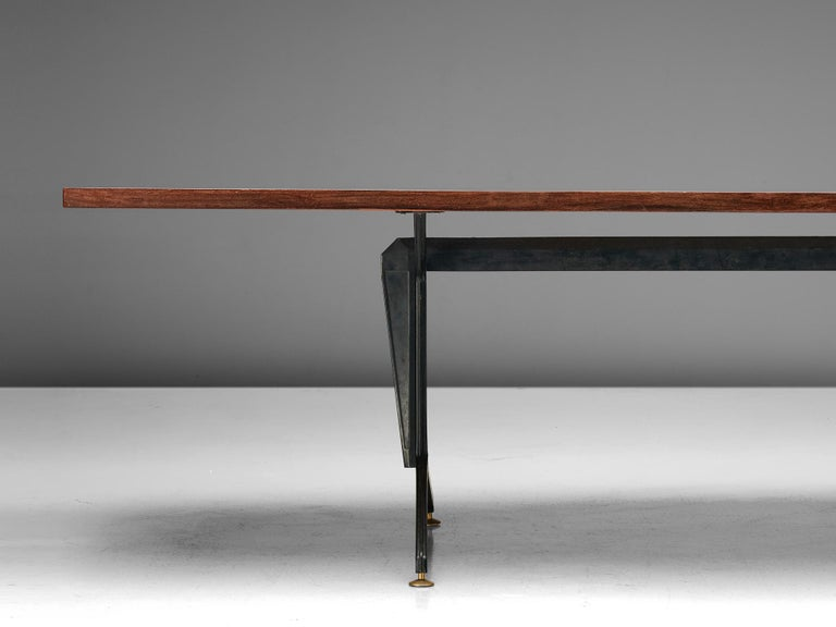 Studio BBPR 'Arco' Conference Table in Rosewood In Good Condition In Waalwijk, NL
