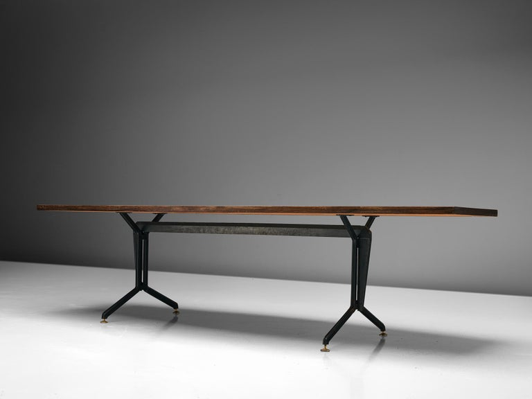 Iron Studio BBPR 'Arco' Conference Table in Rosewood