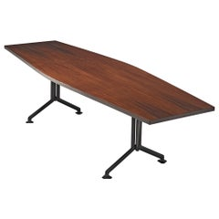Studio BBPR 'Arco' Conference Table in Rosewood