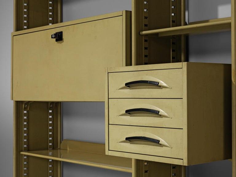 Mid-20th Century Studio BBPR for Olivetti 'Spazio' Shelving System in Metal For Sale