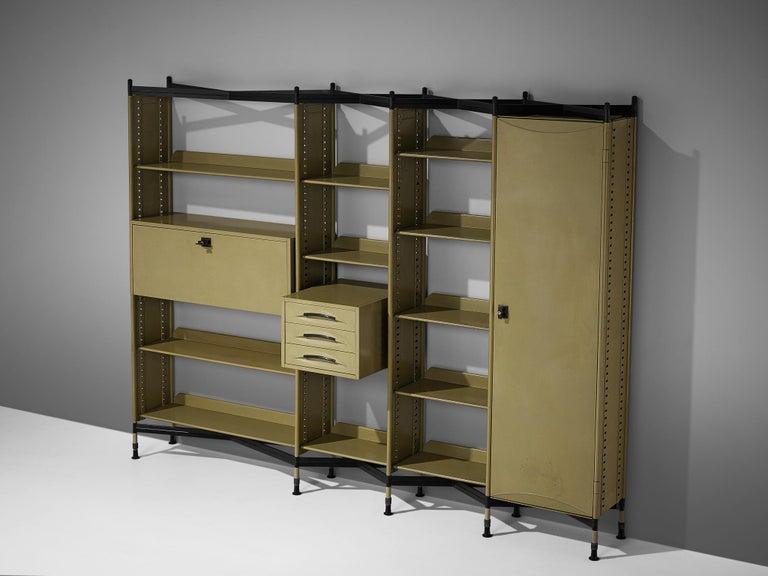 Studio BBPR for Olivetti 'Spazio' Shelving System in Metal For Sale 1