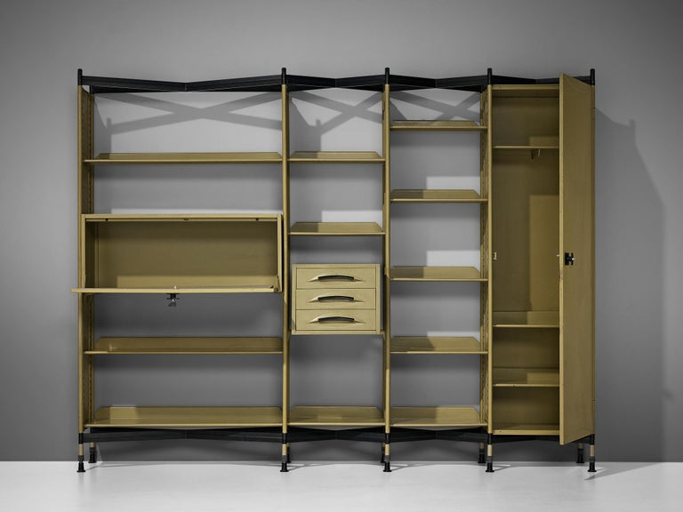Studio BBPR for Olivetti 'Spazio' Shelving System in Metal For Sale 3
