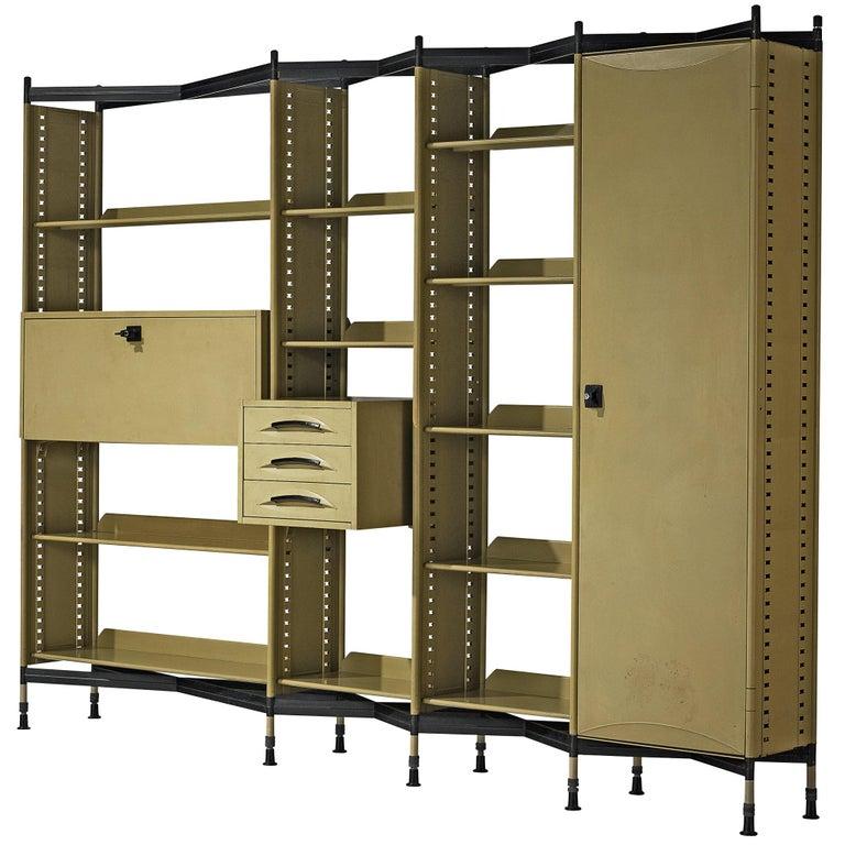 Studio BBPR for Olivetti 'Spazio' Shelving System in Metal For Sale