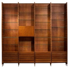 Studio BBPR Large Library in Italian Walnut