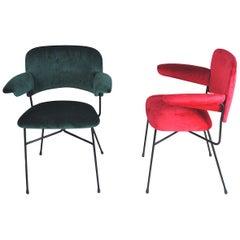 Studio BBPR Set of Two Italian Chairs Urania Model