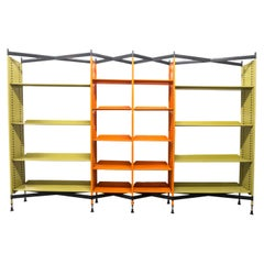 "Studio BBPR ""Spazio"" Midcentury Combinable Metal Bookshelf for Olivetti, 1960"