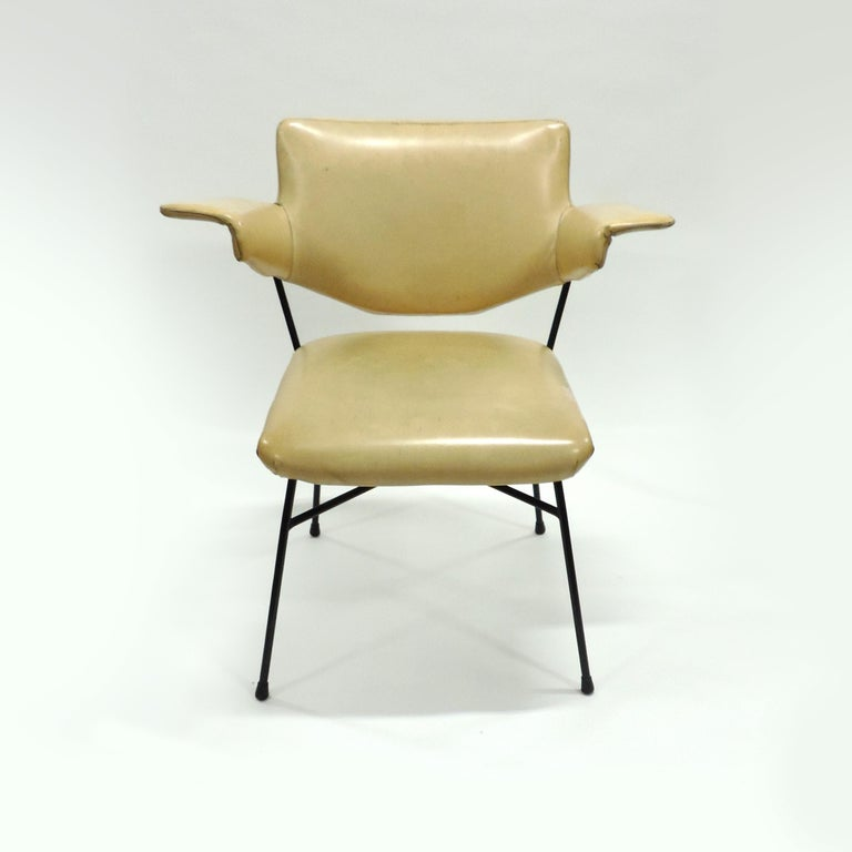 Lacquered Studio BBPR Urania Armchair for Arflex, Italy, 1954 For Sale