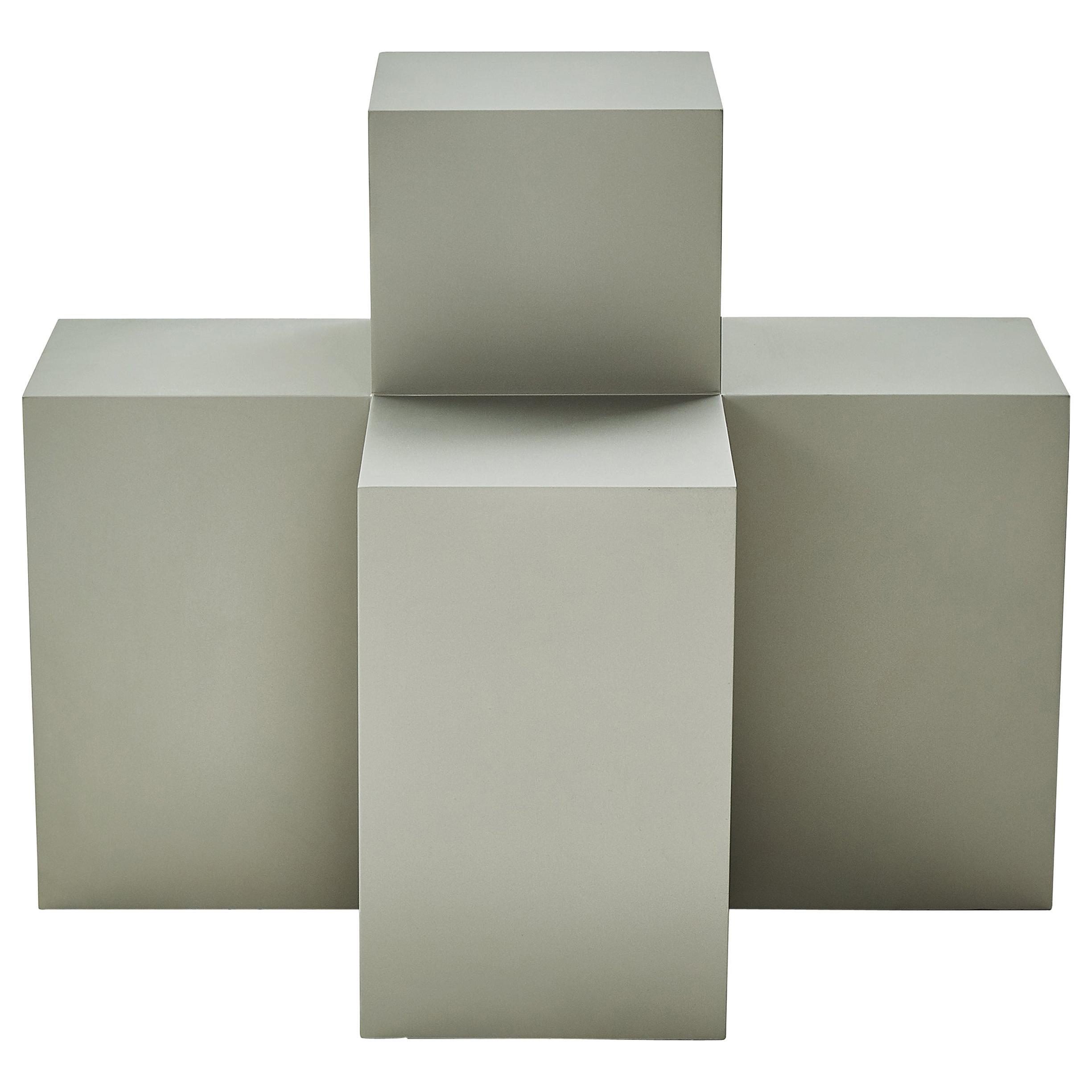 Studio Brancusi I Sculptural Side Table Matte Steel Customizable