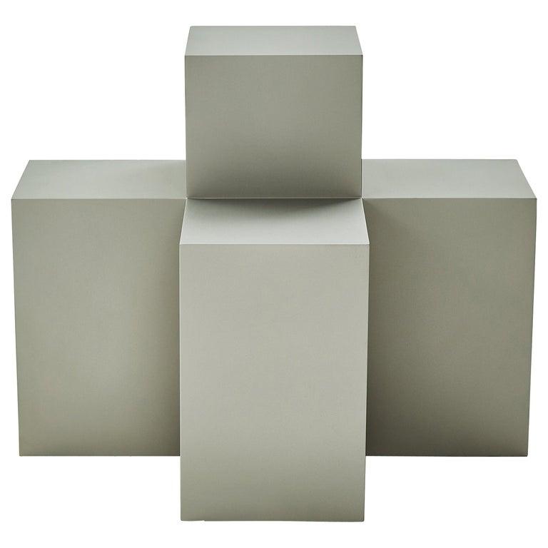Studio Brancusi I Sculptural Side Table Matte Steel Customizable For Sale